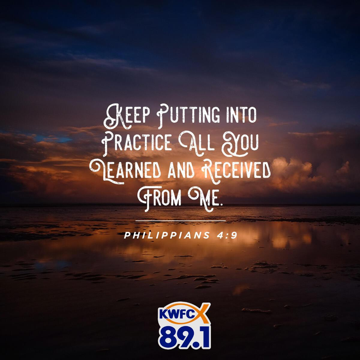 Philippians 4:9 - Verse of the Day